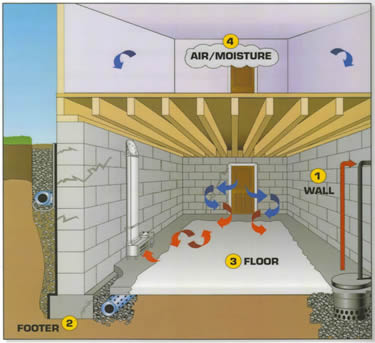 Basement Wateproofing Detroit | Multi-Step System