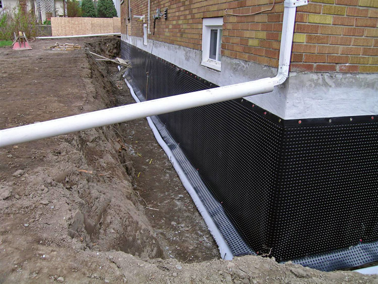 Prioritize foundation waterproofing when using your for Basement foundation walls